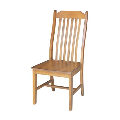 Pleasanton Solid Wood Dining Chair Finish: Pecan