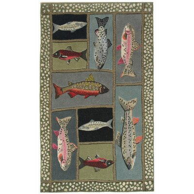 Marshall Mountain Trout Area Rug Rug Size: 5 x 7