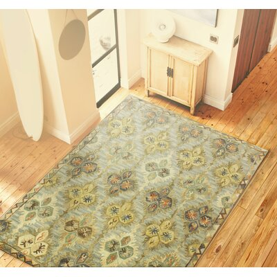 Kamala Hand-Tufted Light Blue Area Rug Rug Size: 76 x 96