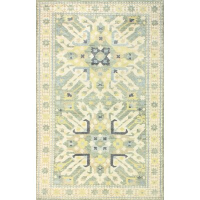 Martinez Hand-Knotted Sage Area Rug Rug Size: 5 x 76