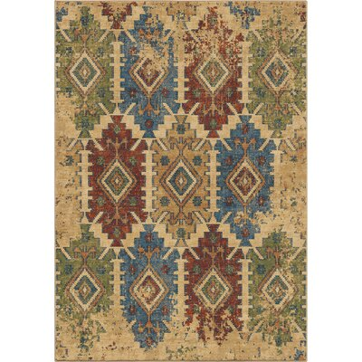 Marvin Beige/Green Area Rug Rug Size: 710 x 1010