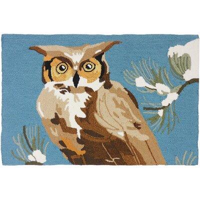 Marshall Woodland Owl Light Blue Area Rug