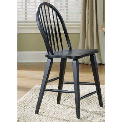Methuen 24 inch Bar Stool (Set of 2) Finish: Black