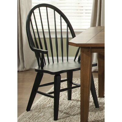Methuen Arm Chair Arm Chair Finish: Black