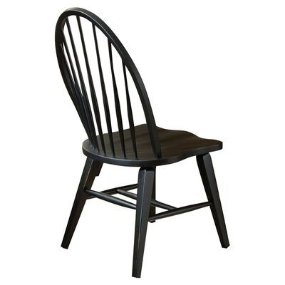 Methuen Side Chair (Set of 2) Side Chair Finish: Black