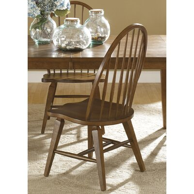 Methuen Side Chair (Set of 2) Finish: Rustic Oak