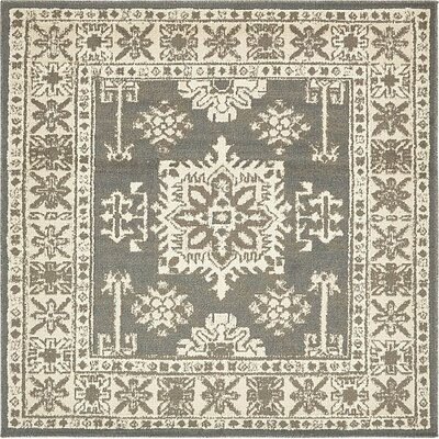 Giovanni Gray Area Rug Rug Size: Square 8
