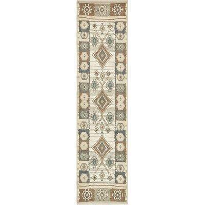 Giovanni Ivory Area Rug Rug Size: Runner 26 x 10