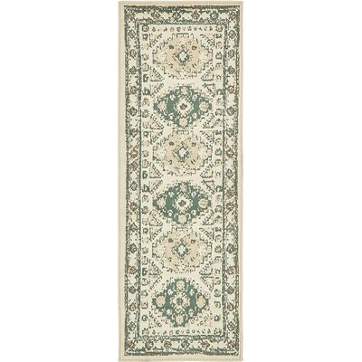 Giovanni Ivory Area Rug Rug Size: Runner�2 x 6
