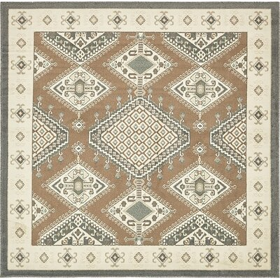 Giovanni Brown Area Rug Rug Size: Square 8