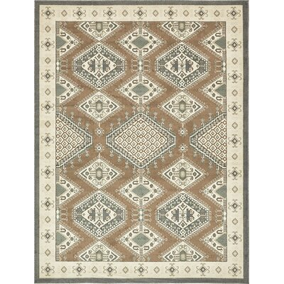 Giovanni Brown Area Rug Rug Size: 9 x 12
