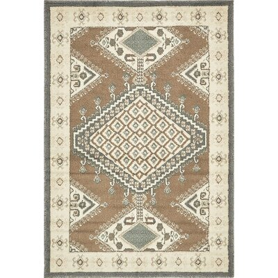 Giovanni Brown Area Rug Rug Size: 4 x 6