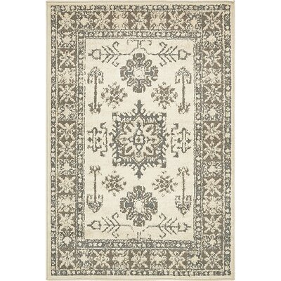 Giovanni Cream Area Rug Rug Size: 4 x 6