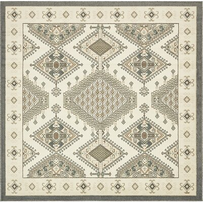 Giovanni Ivory Area Rug Rug Size: Square 8