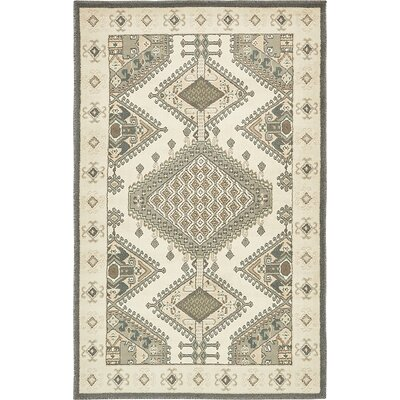 Giovanni Ivory Area Rug Rug Size: 5 x 8