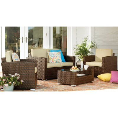 Truchas 4 Piece Deep Seating Group with Cushion