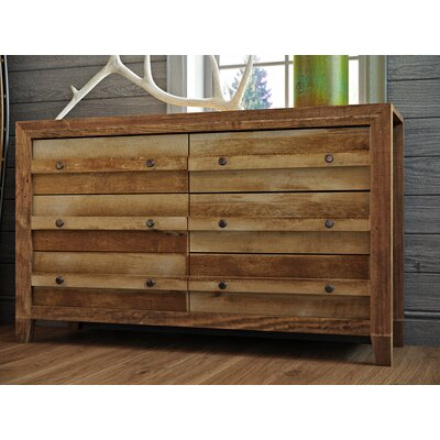 Signal Mountain 6 Drawer Double Dresser