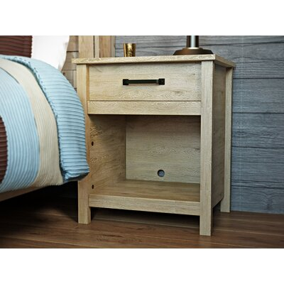 Sunlight Spire 1 Drawer Nightstand Finish: Lintel Oak