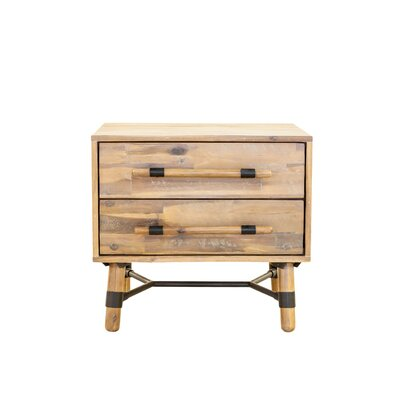 Bozova 2 Drawer Nightstand