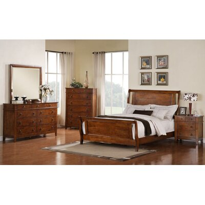 Del City Sleigh 5 Piece Bedroom Set Size: King