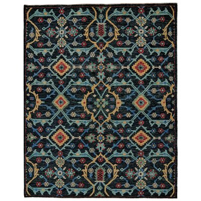 Appistoki Hand-Tufted Blue Area Rug Rug Size: Rectangle 9'6