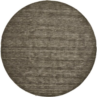 Joel Hand-Woven Brown Area Rug Rug Size: Round 8