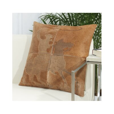 Arcata Natural Leather Throw Pillow