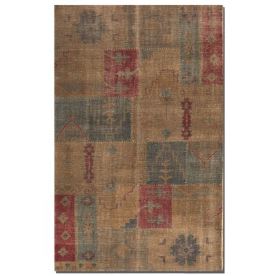 Grayson Weathered Hand-Knotted Brown/Red Area Rug Rug Size: 6 x 9