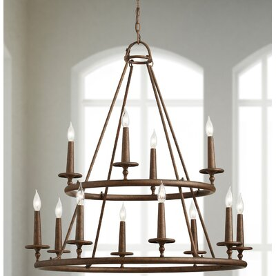 Bedford 12-Light Candle-Style Chandelier