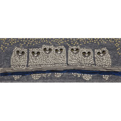 Folsom Owls Grey Indoor/Outdoor Area Rug Rug Size: Runner 23 x 6