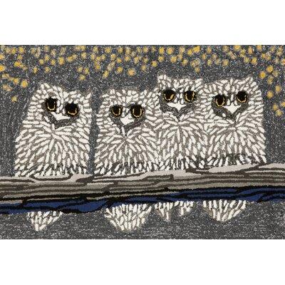 Folsom Owls Grey Indoor/Outdoor Area Rug Rug Size: 26 x 4