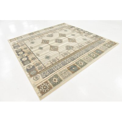 Giovanni Ivory Indoor Area Rug Rug Size: Square 8