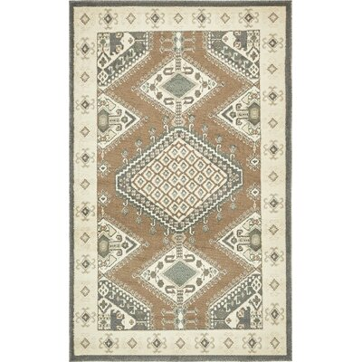 Giovanni Brown Area Rug Rug Size: 5 x 8
