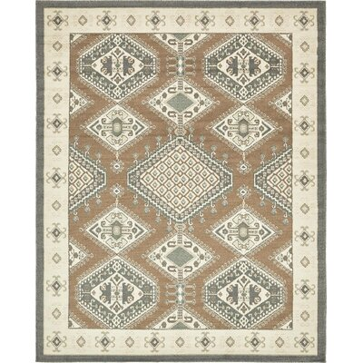 Giovanni Brown Area Rug Rug Size: 8 x 10