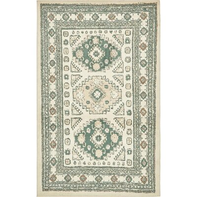 Giovanni Ivory Indoor Area Rug Rug Size: 4 x 6