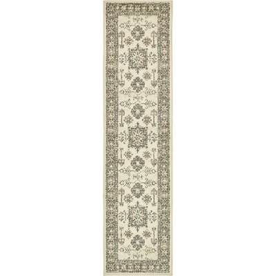 Giovanni Cream Indoor Area Rug Rug Size: Runner 26 x 10