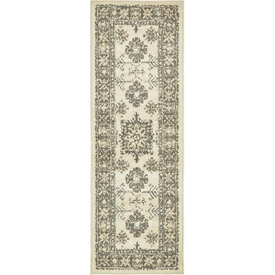 Giovanni Cream Indoor Area Rug Rug Size: Runner 2 x 6