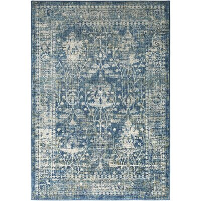 Ipasha Teal/Navy Area Rug Rug Size: Rectangle 53 x 76