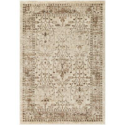 Ipasha Khaki/Camel Area Rug Rug Size: Rectangle 5'3