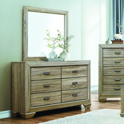 Henry 6 Drawer Dresser with Mirror