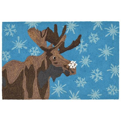 Folsom Hand-Tufted Blue Indoor/Outdoor Area Rug Rug Size: 18 x 26