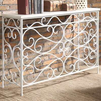 Bolander Traditional Console Table Finish: White