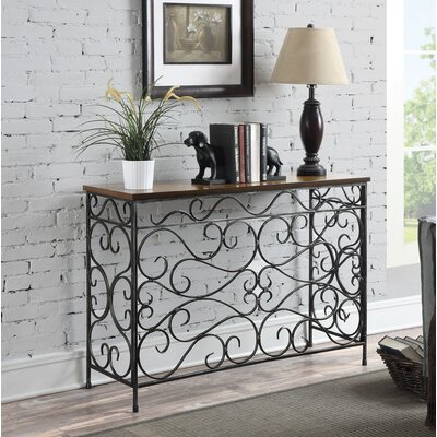 Bolander Traditional Console Table Finish: Black Antique