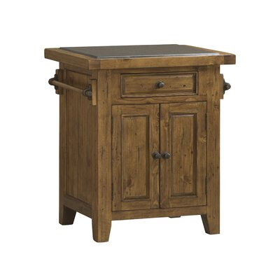 McAlester Kitchen Island with Granite Top Base Finish: Antique Pine