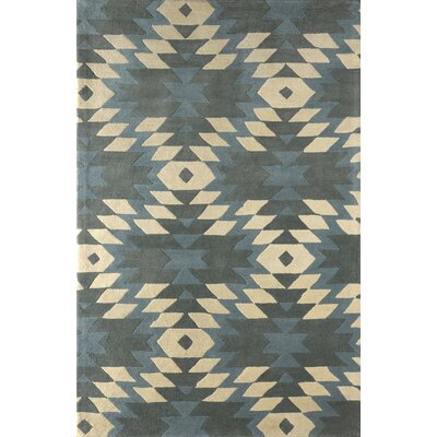 Alverstone Hand-Tufted Sky/Ivory Area Rug Rug Size: Rectangle 6 x 9
