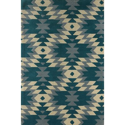 Alverstone Hand-Tufted Lapis Area Rug Rug Size: Rectangle 6 x 9