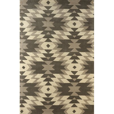 Alverstone Hand-Tufted Soot/Brown Area Rug Rug Size: 6 x 9