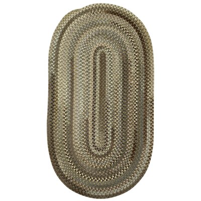 Rainmaker Brown Area Rug Rug Size: Oval 92 x 132