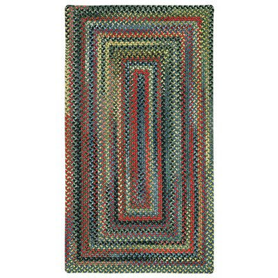 Sahale Green Striped Area Rug Rug Size: Oval 92 x 132