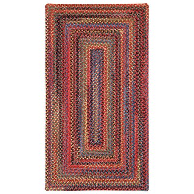 Sahale Red Striped Area Rug Rug Size: Oval 3 x 5